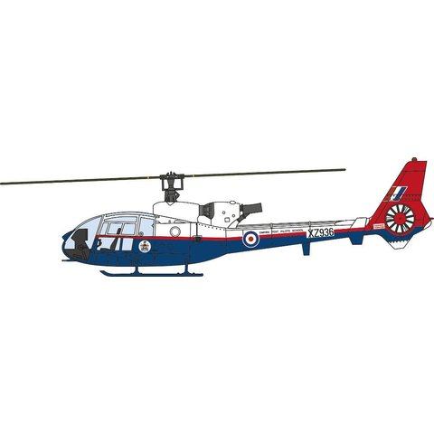 Gazelle Royal Aircraft Establishment RAE XZ936 1990 1:72 with stand