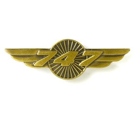 Boeing Store Pin 747 Wings Bronze 1 1/2""