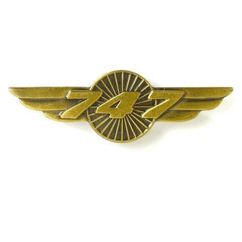 """Pin 747 Wings Bronze 1 1/2"""""""