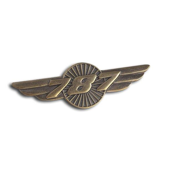 Boeing Store Pin 787 Wings Bronze 1 1/2""