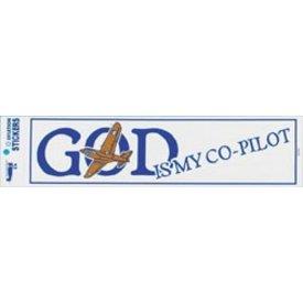 God Is My Co-Pilot Bumper Sticker