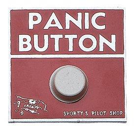 Sporty's Panic Button Sticker