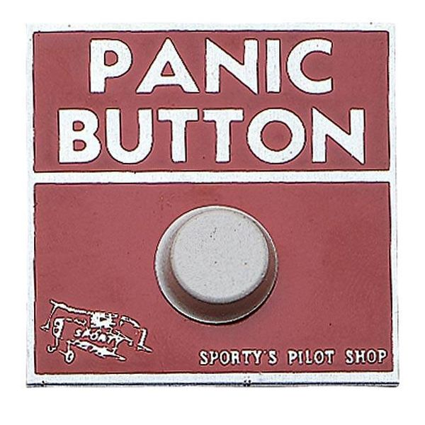 Sporty's Panic Button Sticker