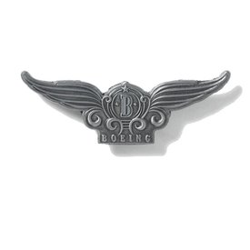 Boeing Store Pin Boeing Wings Styilized, Pewter