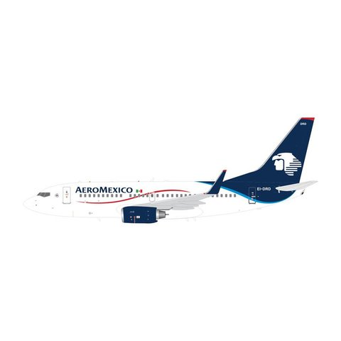 B737-700W Aeromexico white / blue EI-DRD 1:200 with stand