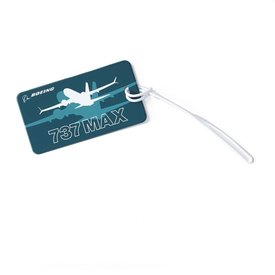 Boeing Store 737 MAX Shadow Luggage Tag
