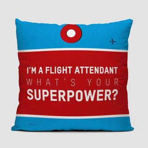 I'm A Flight Attendant Throw Pillow