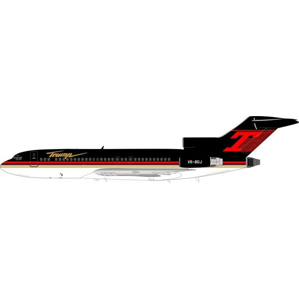 InFlight B727-100 Trump VP-BDJ 1:200 with stand