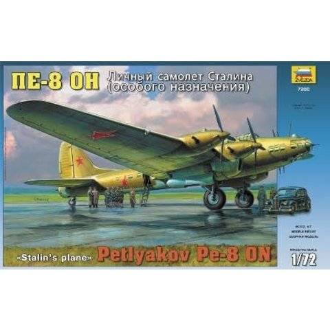 PETLYAKOV PE8 STALIN'S W/FIG 1:72 Scale Kit