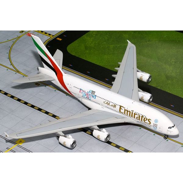 Gemini Jets A380-800 Emirates A6-EEN England Rugby 1:200 with stand