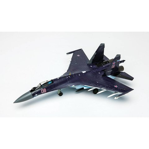 SU35 Flanker Russian RED08 Black 1:72 with stand