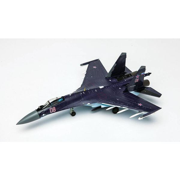 Air Force 1 Model Co. SU35 Flanker Russian RED08 Black 1:72 with stand