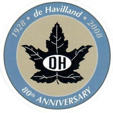 "Dehavilland Canada 80th anniversary 2 3.4"" Inch Sticker"