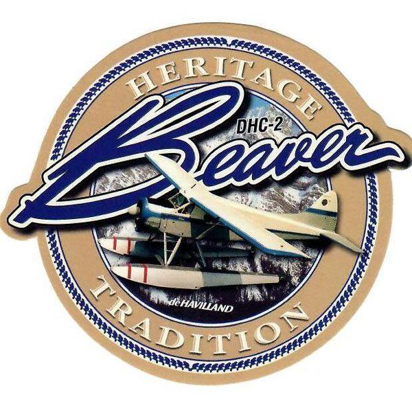"Bombardier DHC2 Beaver Heritage Round Sticker 3 1/2"""