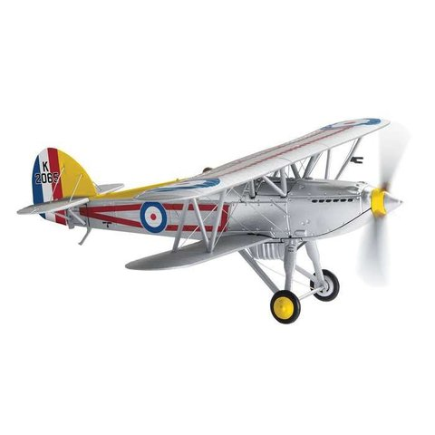 Fury Hawker 1 Squadron RAF C Flight Leader Tangmere K2065 silver 1:72 with stand