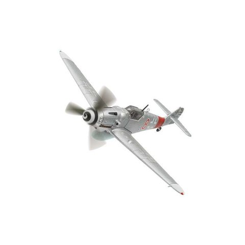 BF109G-6 III/JG300 Luftwaffe Kurt Gabler Red 8 silver 1:72 with stand