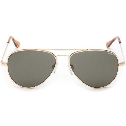 Concorde 23k Gold Gray Glass Skull 52MM Sunglasses **DISC