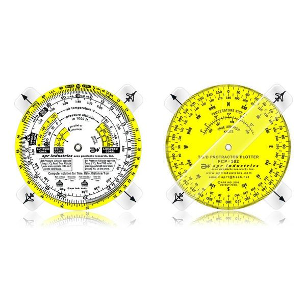 APR Industries Time Speed Distance Circular Computer with Protractor Plotter 3-3/4""