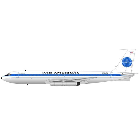 B707-300 Pan Am Jet Clipper Defiance N704PA 1:200 with Stand