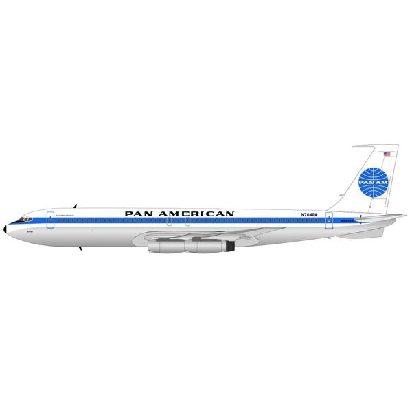 InFlight B707-300 Pan Am Jet Clipper Defiance N704PA 1:200 with Stand