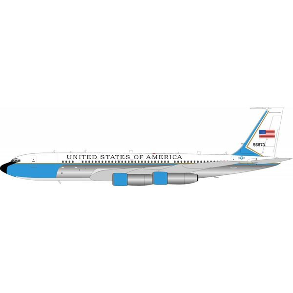 InFlight C137C/B707-300 US Air Force USAF 85-6973 1:200 with stand Polished