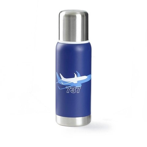 737 Shadow Graphic Thermos