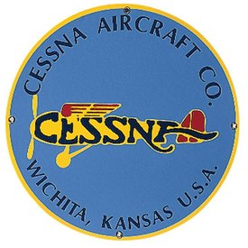 TIN SIGN CESSNA