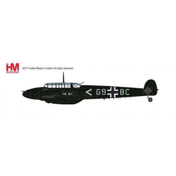 Hobby Master Bf110E2 Oblt.Uellenbeck, II/NJG1 G9+BC Luftwaffe Spring 1942 1:72
