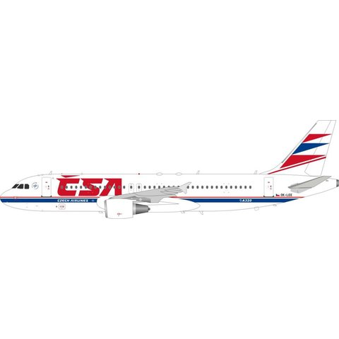 A320 CSA Czech Airlines OK-LEE 1:200 with stand