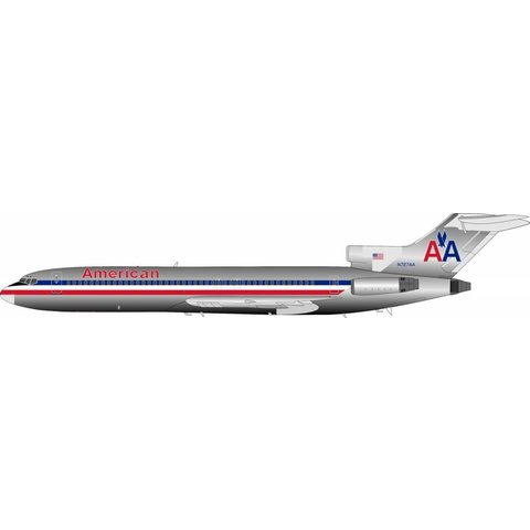 B727-200 American Airlines Boeing N727AA 1:200 with stand polished**o/p**