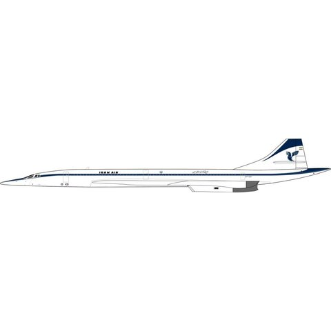 Concorde Iran Air EP-SST 1:200 With Stand (fictional)