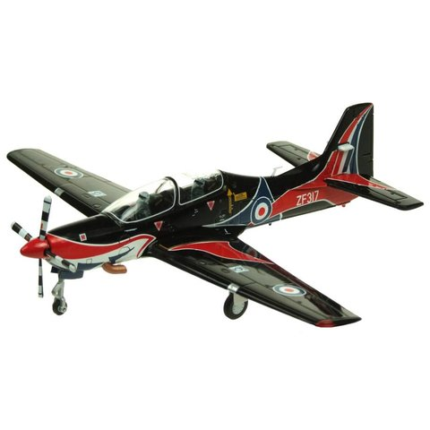 AV72 Tucano T1 Royal Air Force Display Team 2009 Black / Red 1:72 with stand