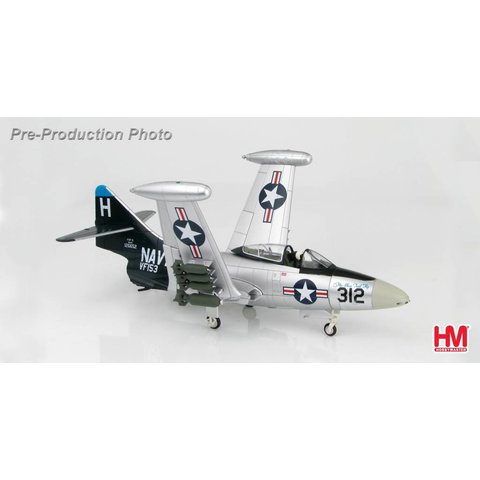 F9F5 Panther Blue Tail Fly VF153 USS Princeton H-312 1953 1:48 with stand