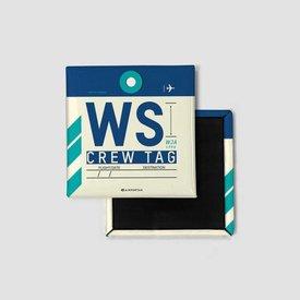 Airportag WS Magnet