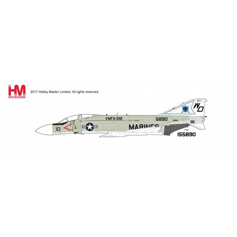F4J Phantom II VMFA212 USMC WD-10 1970's 1:72 with stand