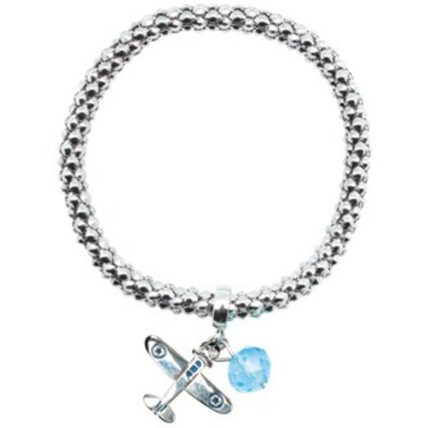 Metal Rope Airplane Bracelet