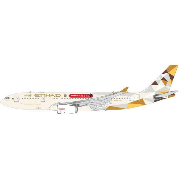 Phoenix A330-200 Etihad 2014 Livery Happy 11,11 A6-EYD 1:200 with stand
