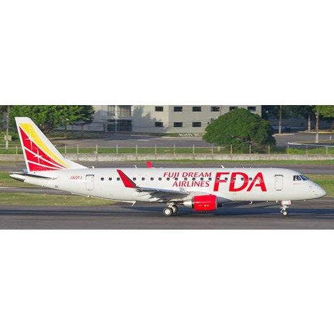 ERJ170-200STD FDA Fuji Dream Airlines JA12FJ red/yw 1:200 with stand