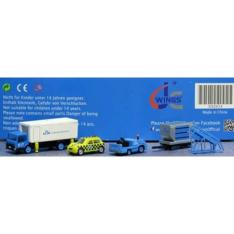 GSE KLM Set #4:Catering Truck,,Taxi,Tug,Container,Dolly,Stairs, 1:200++SALE++