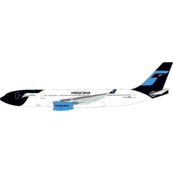 InFlight A330-200 Mexicana NC08 XA-MXP 1:200 with Stand
