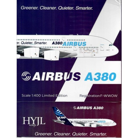 A380-800 Airbus House Livery Greener, Cleaner F-WWOW 1:400