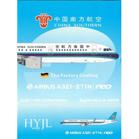 HYJL Wings A321neo China Southern Factory Coating D-AVXM 1:400