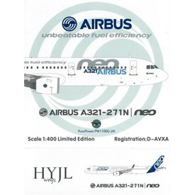 HYJL Wings A321neo Airbus House Livery PurePower 1:400