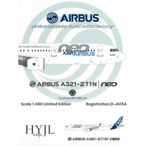 A321neo Airbus House Livery PurePower 1:400