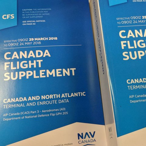 Canada Flight Supplement - August 12th 2021