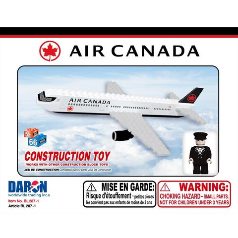 Air Canada 55 Piece Construction Toy New Livery 2017 (Bestlock)