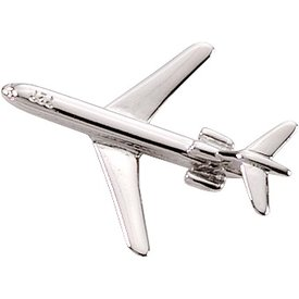 Johnson's Pin Boeing 727 (3-D cast) Silver Plate