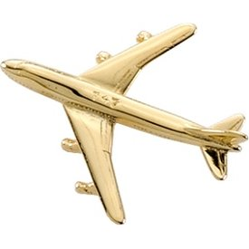 Johnson's Pin Boeing B747 (3-D cast) Gold Plate