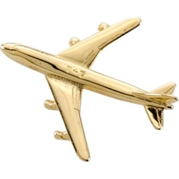 Pin Boeing B747 (3-D cast) Gold Plate