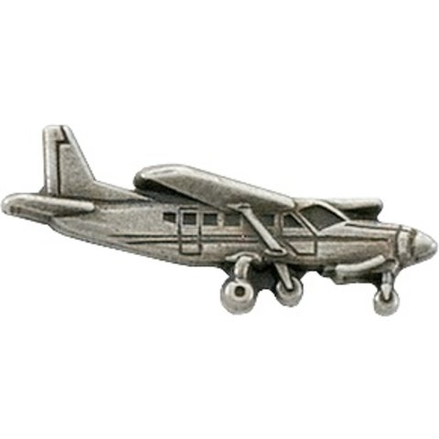 Pin Cessna 208 Caravan Silver Plate